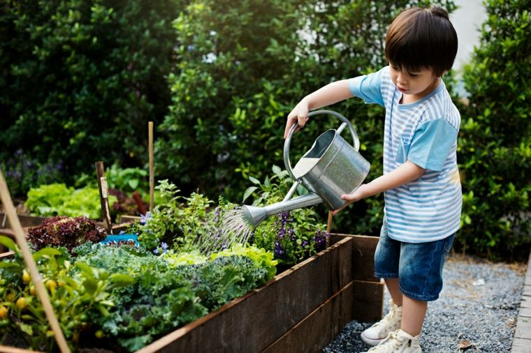 niño-regando-el-jardin