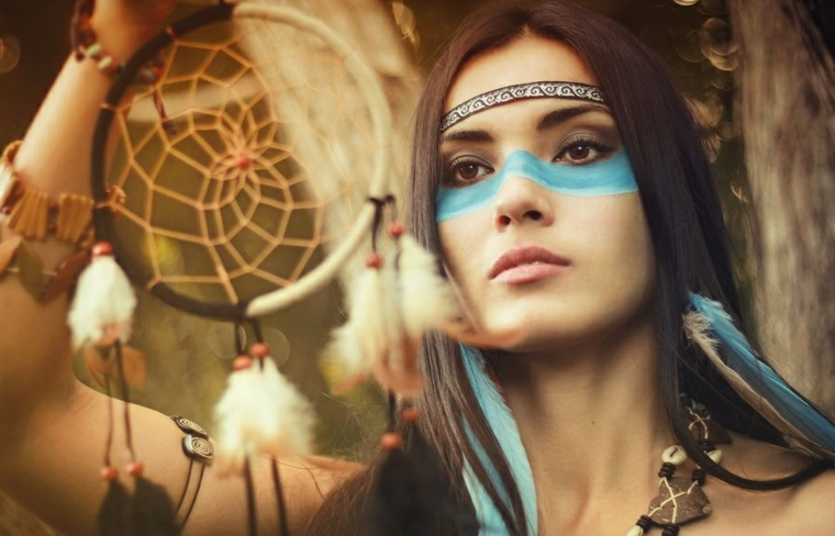 ojos maquillados-india-carnavales