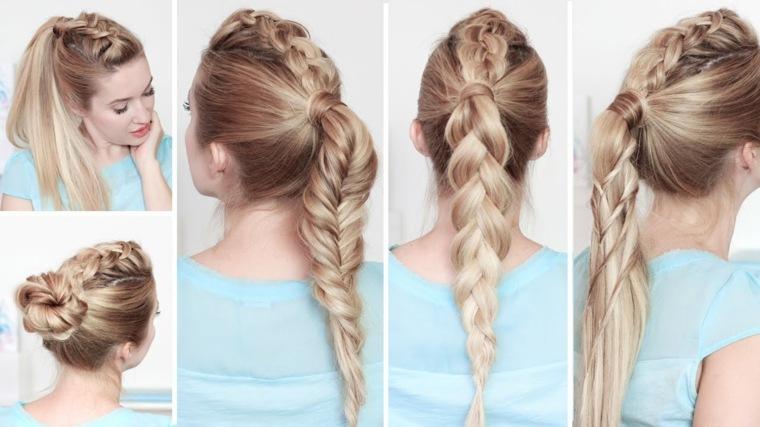pasos para hacer peinados-recogidos-playeros
