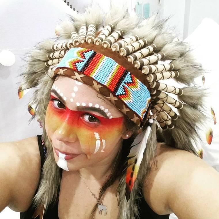 pasos para maquillarse los ojos-cara-india