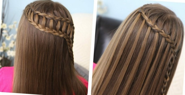 peinados faciles-semirecogidos-trenzas-playa