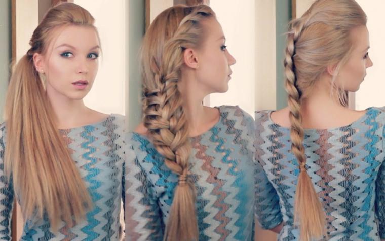 peinados faciles y bonitos-pelo-largo-playa