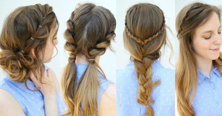 peinados faciles y rapidos-mujeres-trenzas