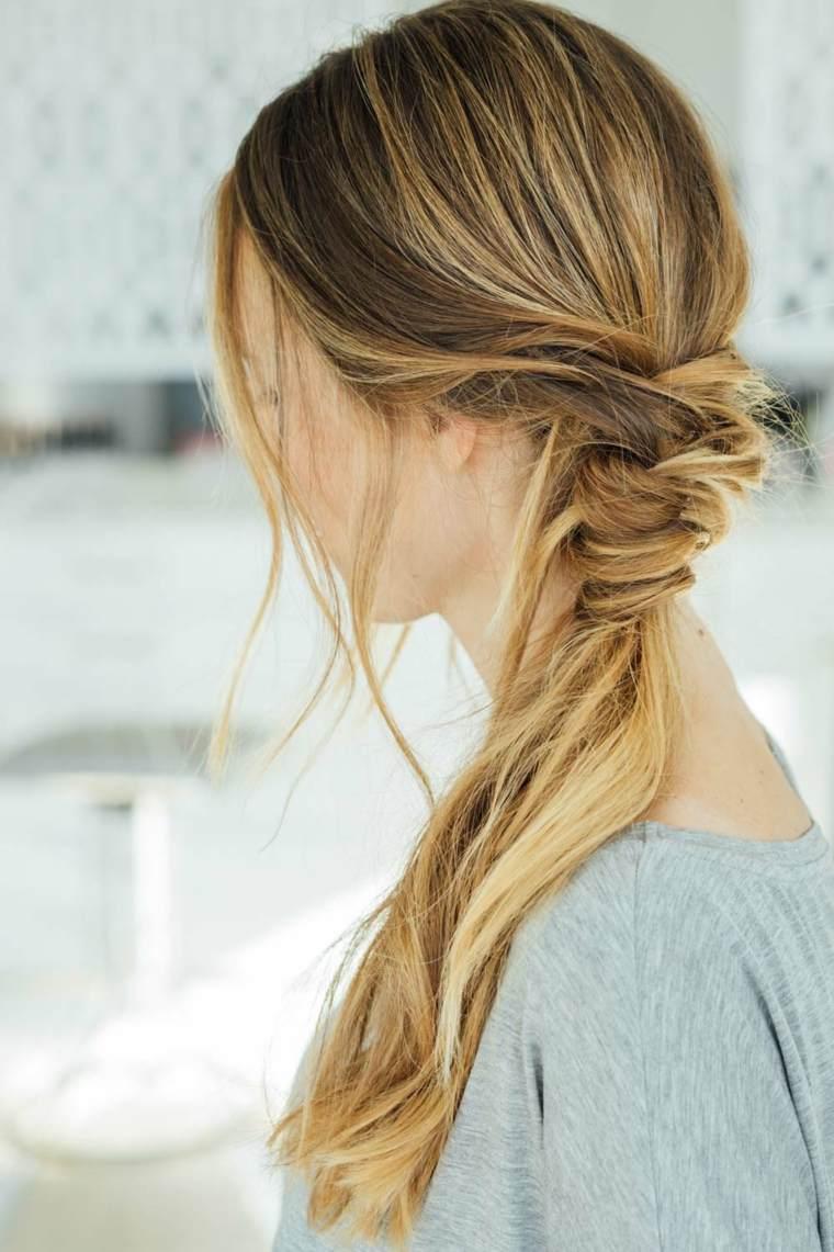 peinados faciles y rapidos-playa-coleta-baja