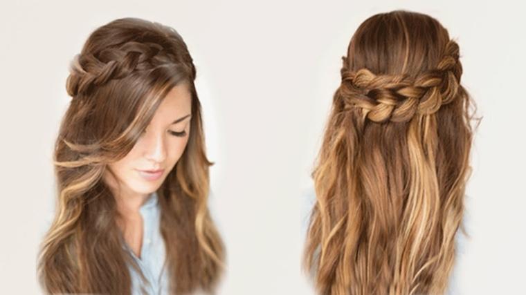 peinados faciles y rapidos-semirecogidos-trenza