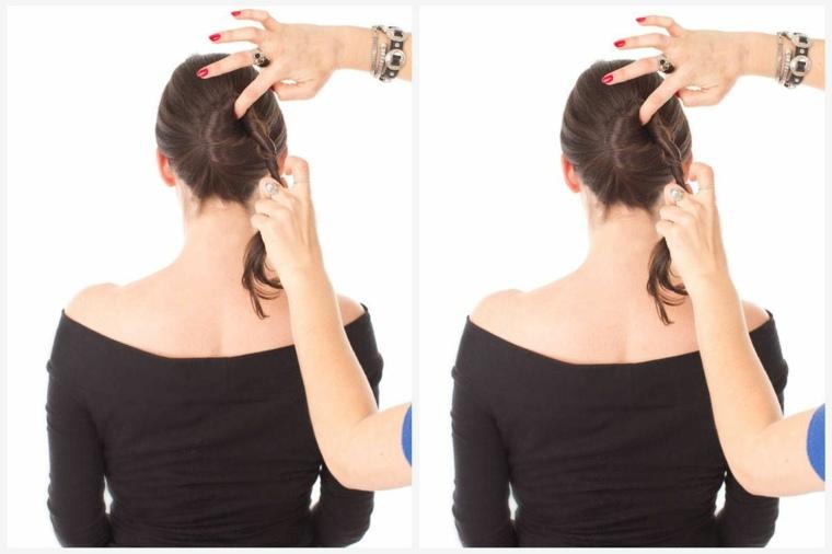 peinados faciles y sencillos-mono-trenzado