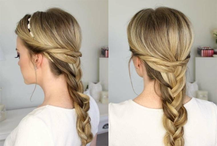 peinados faciles y sencillos-playa-trenzas