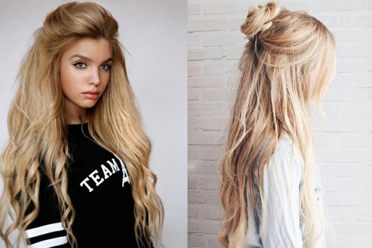 peinados sencillos y bonitos-pelo-suelto
