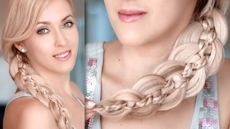peinados sencillos y bonitos-trenzas-playa