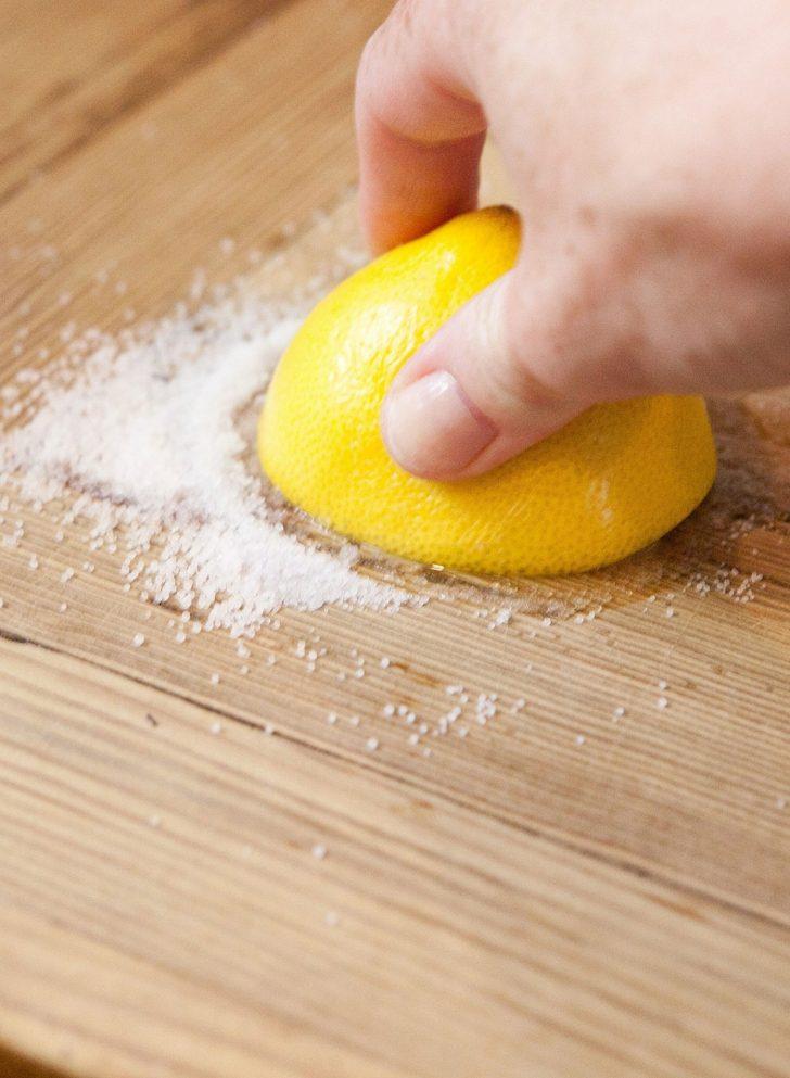 productos de limpieza-madera-sal