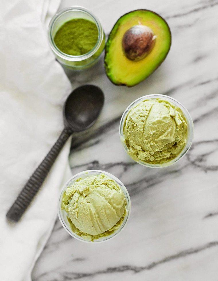 recetas de helados caseros-aguacate-ideas