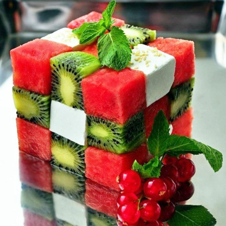 recetas de postres faciles-sandia-cubo