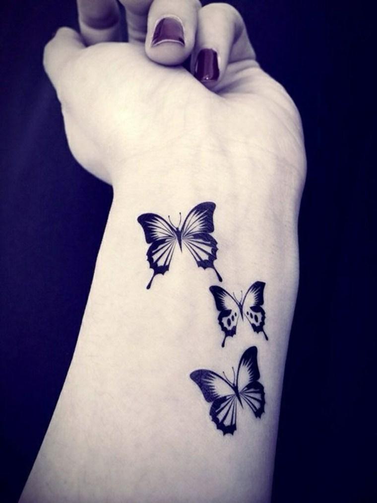 tatuajes pequeños para mujer mariposas