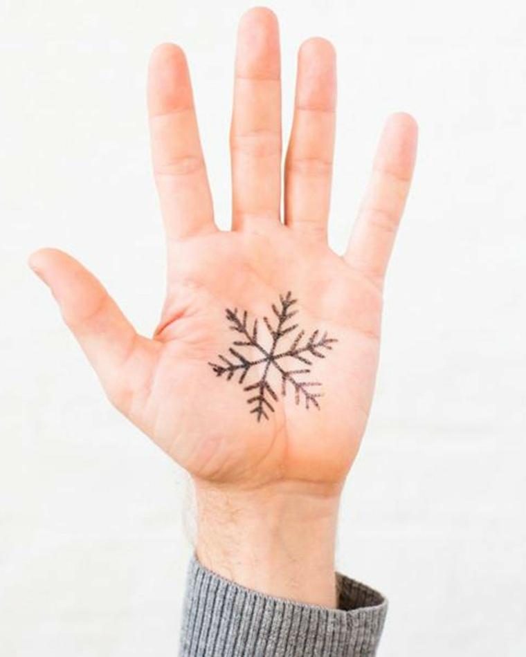 tatuajes simples-copos-nieve