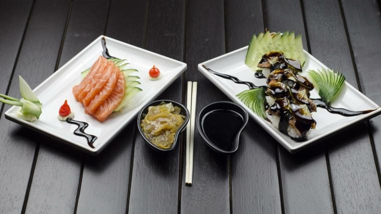 una receta de cocina-preparar-sushi