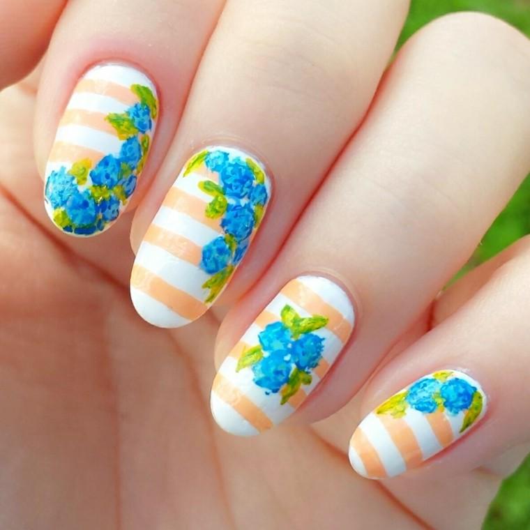 unas decoradas-flores-verano
