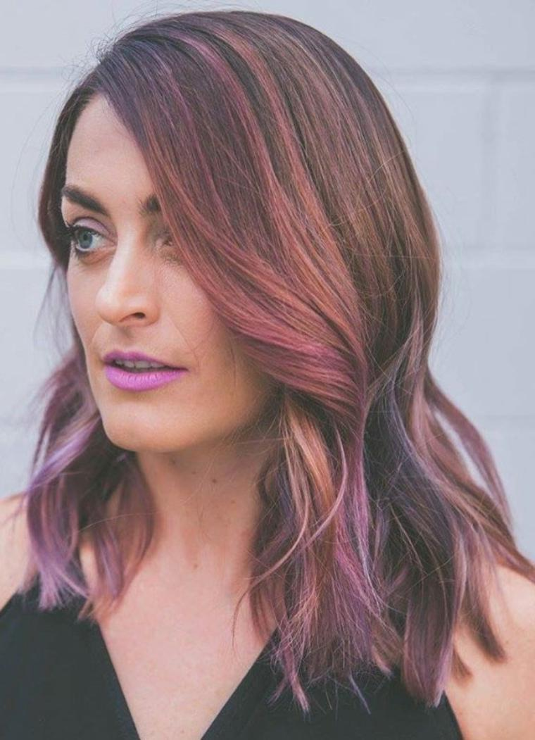 violetas rosados