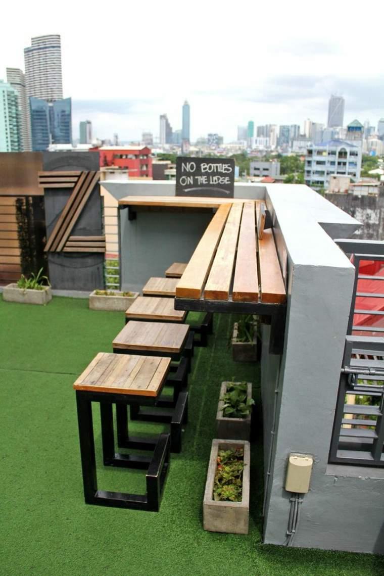 Balcones y terrazas en la azotea