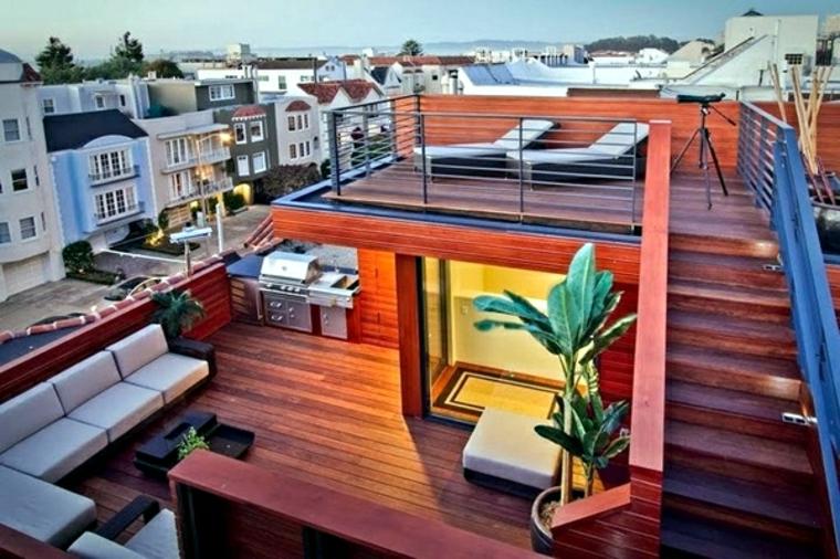 diseños de azoteas con terrazas