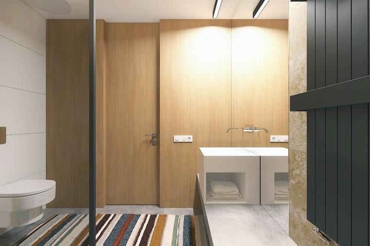 baño-pequeño-con-alfombra-colorida