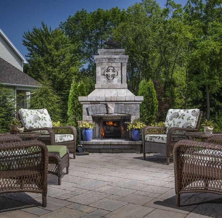 imagenes de chimeneas bello-jardin-opciones-diseno-chimenea