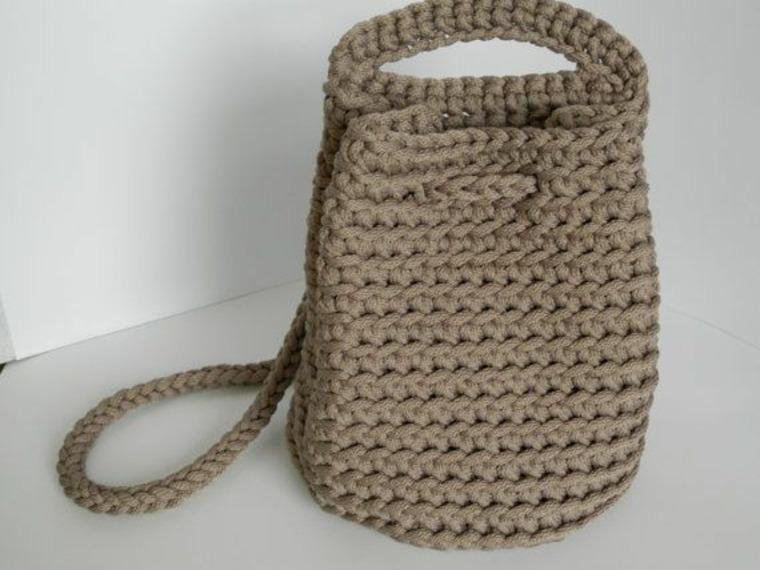 diseño de bolso de punto moderno