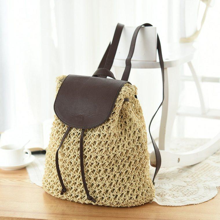 mochila de ganchillo