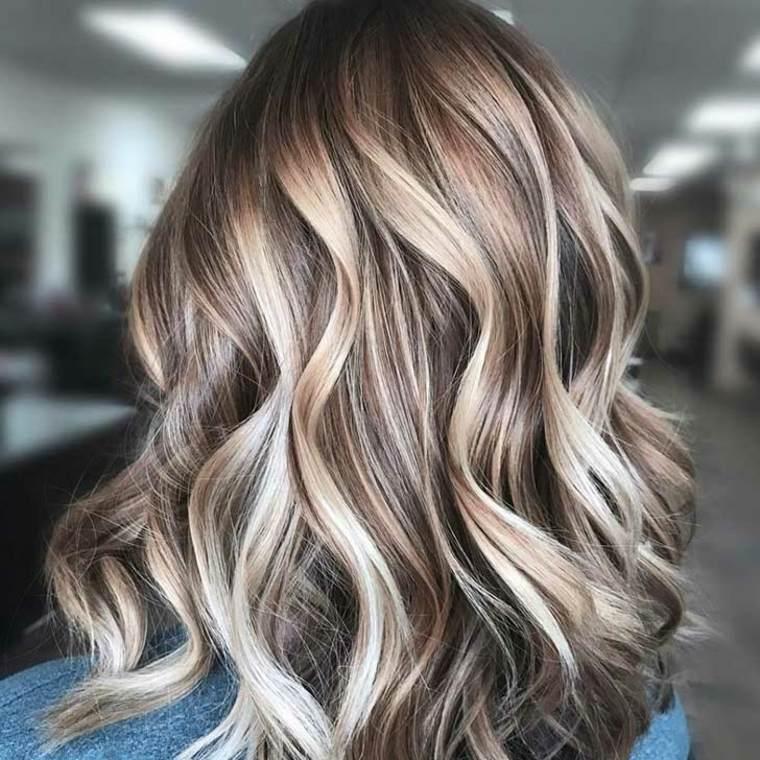 estilo Balayage cabello rubio