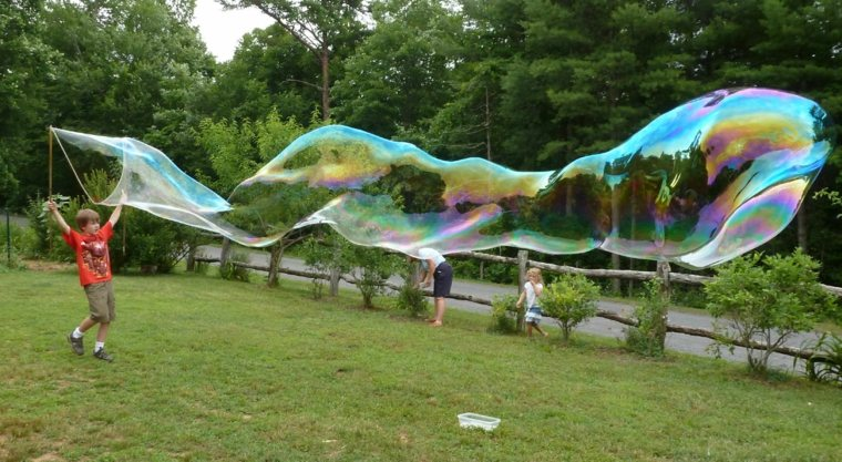 burbujas de jabón juego
