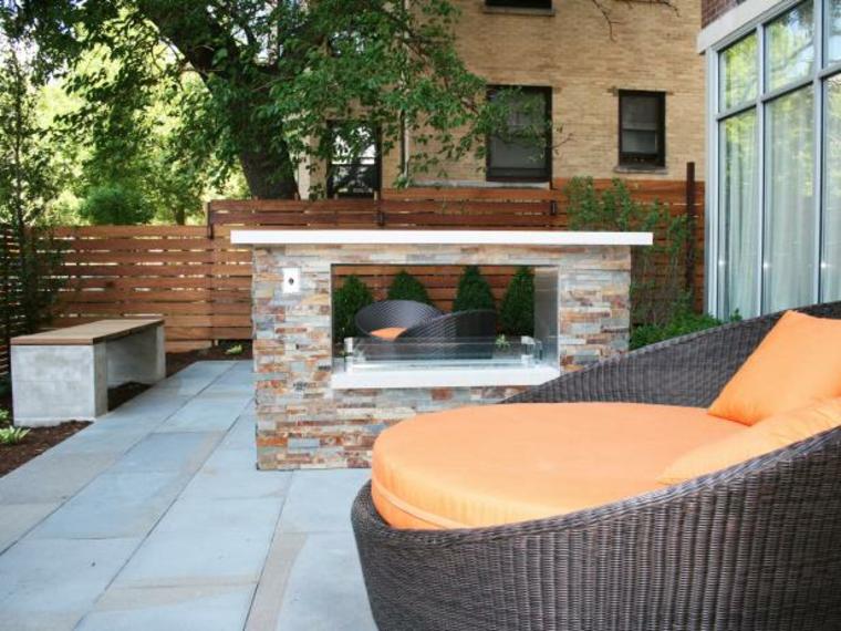 diseño de chimeneas en el jardín
