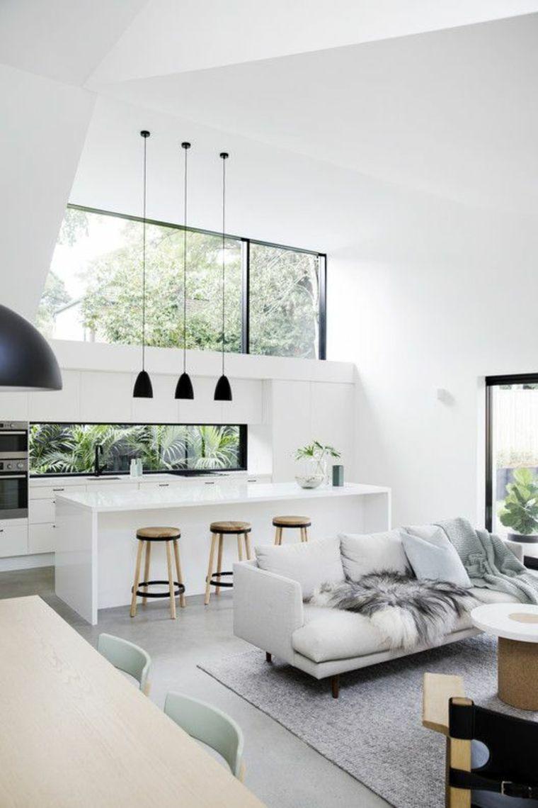 cocina-blanca-con ventanal