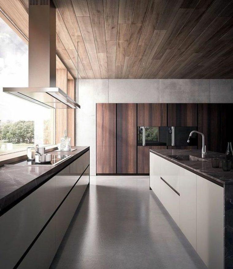 cocina-minimalista ventana salpicadero