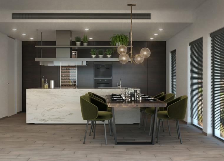 cocina-moderna-isla-mesa-estilo