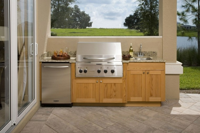 cocinas modernas-jardin-muebles
