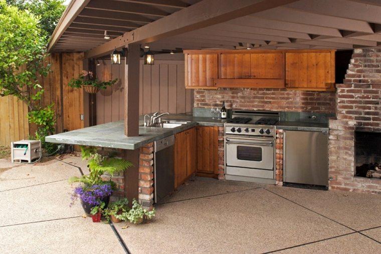 cocinas modernas-jardin-terraza