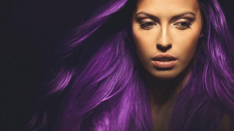 colores-de-cabello-de-moda-2018-ideas-lila
