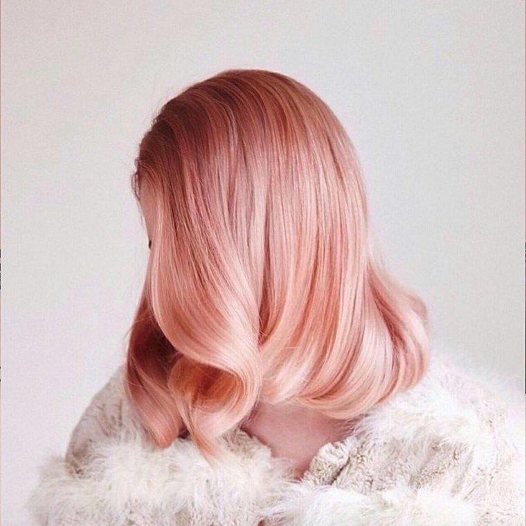 colores de cabello de moda 2018-ideas-rosa-dorado-ideas-chicas