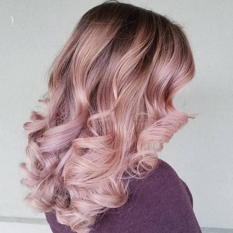 colores de cabello de moda 2018-ideas-rosa-dorado-ideas-originales