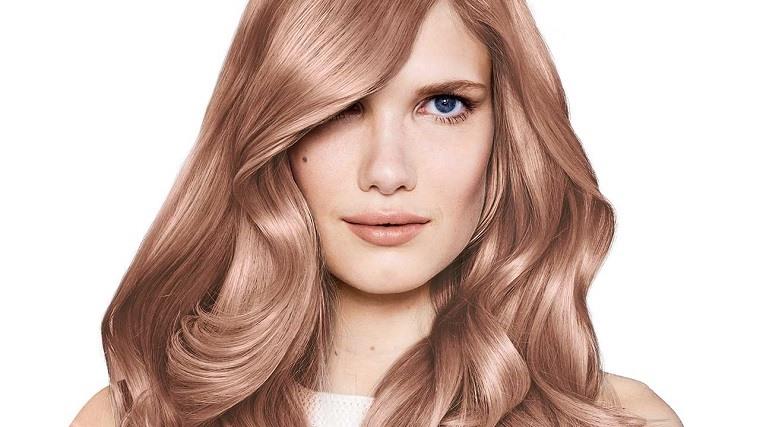 colores de cabello de moda 2018-ideas-rosa-dorado