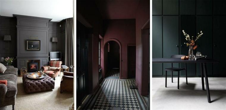 colores para interiores-modernos-negro