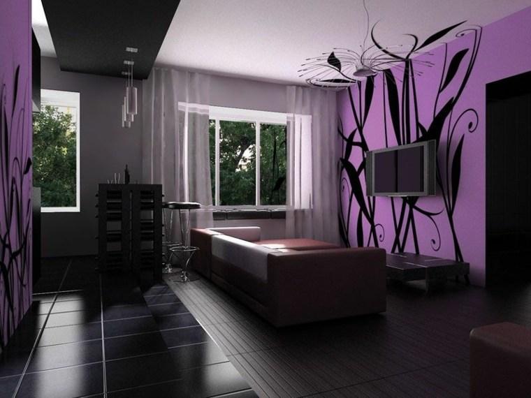 colores para interiores-negro-morado