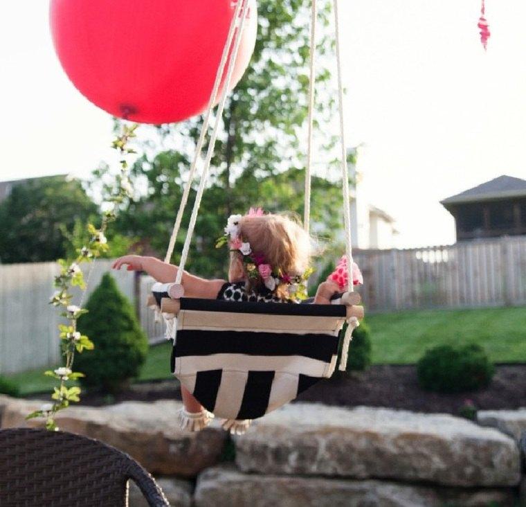 columpios para jardín disenos-atractivos-bebe