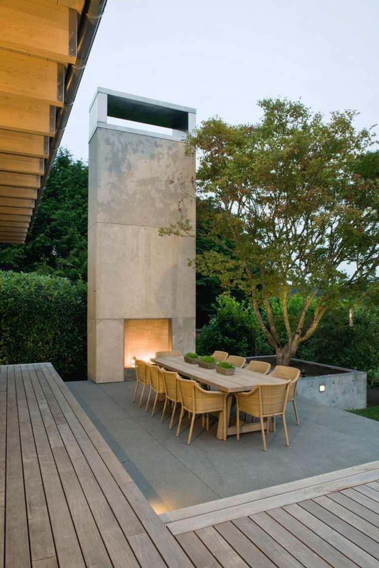 Materiales de la chimenea al aire libre