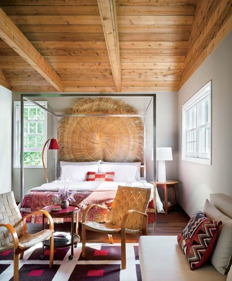 cómo decorar una recámara estilo-tropical-cama-dosel