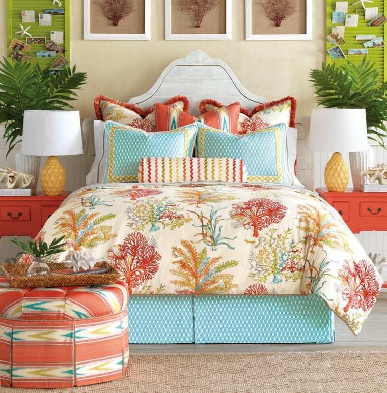 como-decorar-una-recamara-estilo-tropical-colores-llamativos