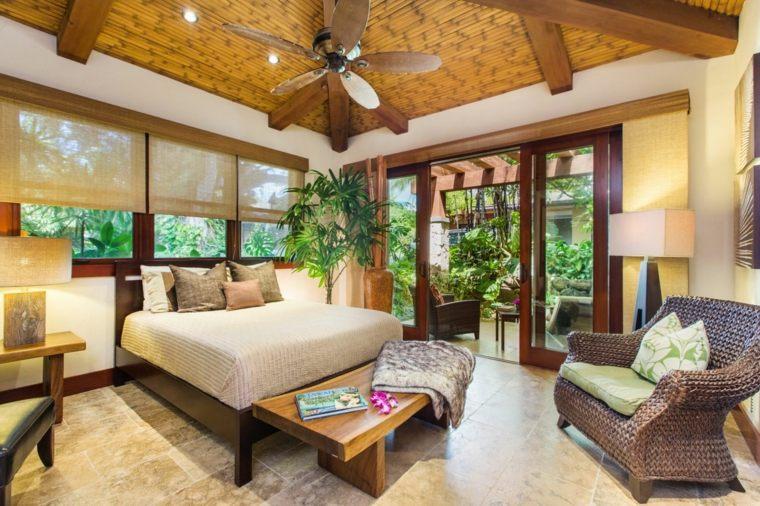 cómo decorar una recámara estilo-tropical-moderno