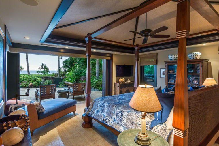 cómo decorar una recámara estilo-tropical-muebles-originales