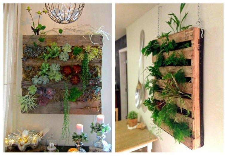 como hacer un jardin vertical-interior