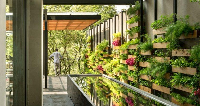 Como hacer un jardin vertical y su dise o en los - Construir jardin vertical ...