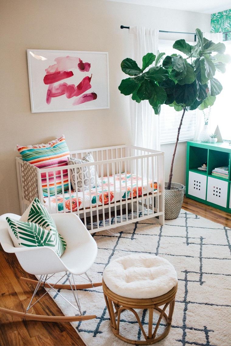 decoracion-de-cuarto-de-bebe-estilo-tropical-moderno